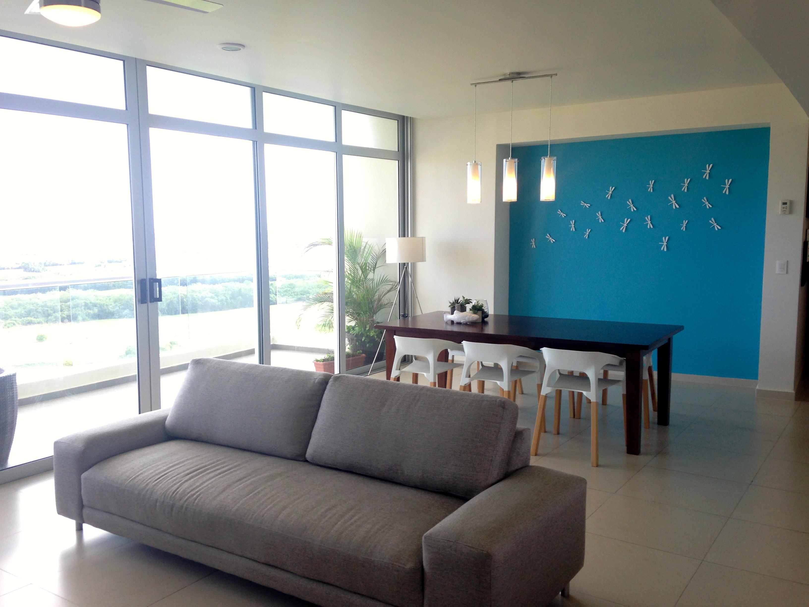 Departamento en Renta 3 recamaras vista al mar y campo de golf Puerto Cancun